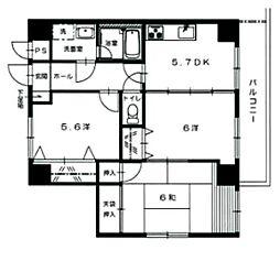 NOBLE.601[4階]の間取り