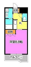 東京都清瀬市梅園2丁目の賃貸アパートの間取り