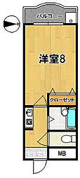 奈良アサカハイツ[4階]の間取り