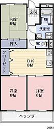 長野県長野市大字石渡の賃貸アパートの間取り