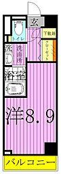 ART APARTMET IN TOKYO NORTH 4階ワンルームの間取り