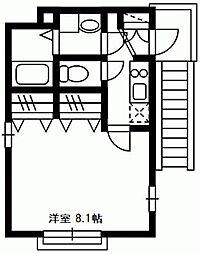 神奈川県川崎市幸区北加瀬1丁目の賃貸アパートの間取り