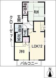 プリマベール[1階]の間取り