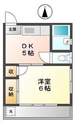 東京都小金井市梶野町4丁目の賃貸アパートの間取り