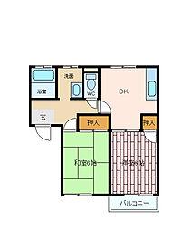 兵庫県神戸市垂水区本多聞1丁目の賃貸アパートの間取り