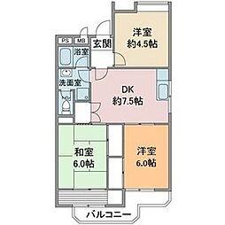 第3富士ハイツ[1階]の間取り