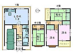 [一戸建] 奈良県奈良市大安寺2丁目 の賃貸【/】の間取り