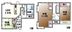 [一戸建] 滋賀県大津市本堅田3丁目 の賃貸【/】の間取り