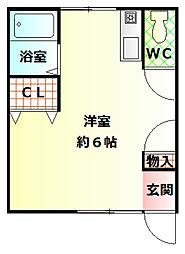 塩屋荘II[1階]の間取り