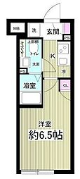 notice目黒本町 3階1Kの間取り