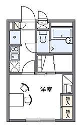 神奈川県横浜市鶴見区馬場7の賃貸アパートの間取り