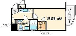 セレニテ日本橋EST[2階]の間取り