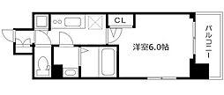エスリード本町靭公園レジデンス 9階1Kの間取り