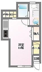 CUBE西明石[1階]の間取り