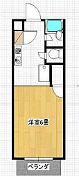 コーポ浅野[2階]の間取り