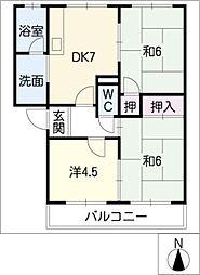 サンハイム鈴木[1階]の間取り