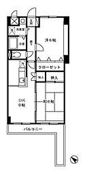 クレッセ[3階]の間取り