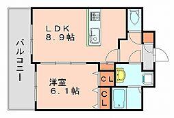 ディオリス[5階]の間取り