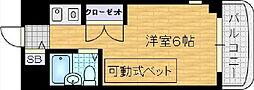 朝日プラザ梅田北デラ・リブジェ[5階]の間取り