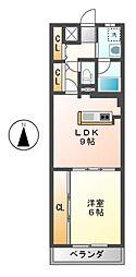 愛知県名古屋市中村区乾出町2の賃貸マンションの間取り