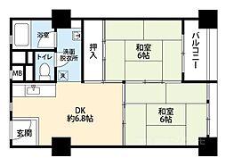 千島団地[3階]の間取り