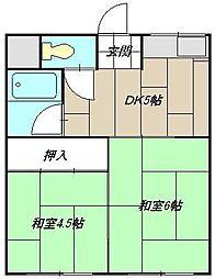 コーポ藤田I[201号室]の間取り