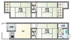 [タウンハウス] 大阪府四條畷市雁屋北町 の賃貸【/】の間取り
