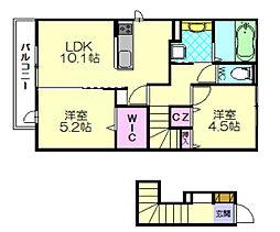 ガーデンハウスC[2階]の間取り