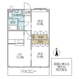 ベルファミーユ 2[305号室号室]の間取り