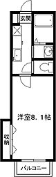ピカピカ新築、マメゾンN[1階]の間取り
