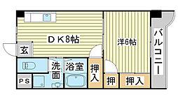 コーポラス神子岡[301号室]の間取り