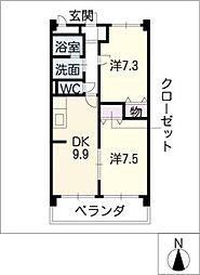 タワーサイド光明寺[3階]の間取り