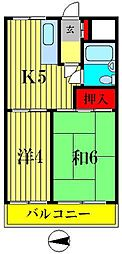 柴又第1STマンション[107号室]の間取り