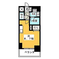 APEX名古屋栄Premier Life[7階]の間取り