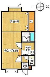ラピュタハウスB[B5号室]の間取り
