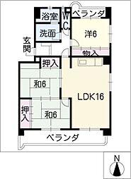 パークサイドM・Y[1階]の間取り