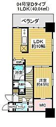 JR京浜東北・根岸線 大宮駅 徒歩7分の賃貸マンション 9階1LDKの間取り