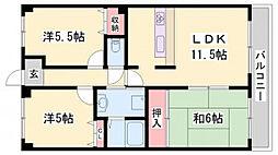 パインヒル・コーナン[3階]の間取り