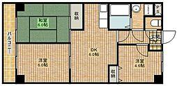 マノワール溝口[3階]の間取り