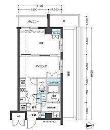 エルミタージュ東高円寺[601号室]の間取り