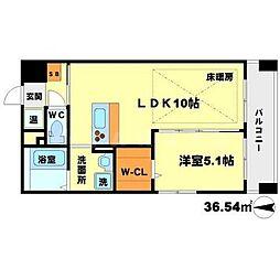 第21関根マンション[13階]の間取り