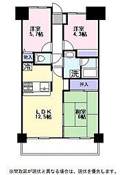 ライオンズマンション彦根(415)[4階]の間取り