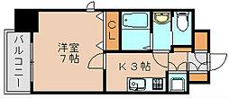 サヴォイ箱崎セントリシティ[6階]の間取り