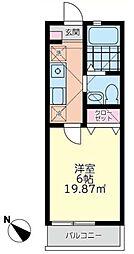 カンタビア湘南[1階]の間取り
