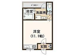 田中ハイツ[1階]の間取り
