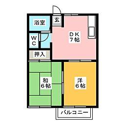 パントグラフC棟[2階]の間取り