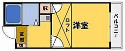 グリーンコートKAWADA[1階]の間取り
