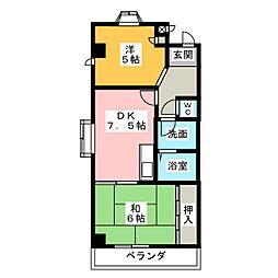 メゾン平松[2階]の間取り