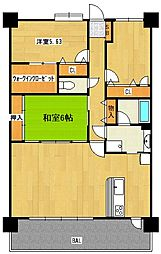 コアマンションマリナシティ長崎 C棟[1402号室]の間取り