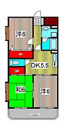 ガーデンハウス塚越[1階]の間取り